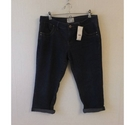 peacocks Straight leg 3/4 length jeans Blue Size: 32""