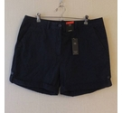 M&S Collection Navy regular cotton shorts Navy Size: 36""