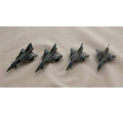 Diecast Metal Tootsietoy F-106 Delta-Wing Fighter Aeroplanes - Set of 4