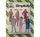 Simplicity 8082 sewing pattern. 'easy to sew' mens and womens nightwear sizes XS-Med