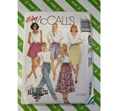 McCalls 4257 1980s Womens Shorts, skirt, trousers sizes 14-16.
