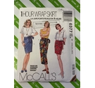 McCalls 6377 1980s Womens wrap skirt sewing pattern. Size XS,S,M