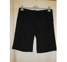 River Island Long Shorts with Turn Ups, Black Size: M