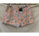 Topshop Shorts Silver and Oran Size: M