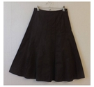 M&S Collection Flared &lined Chocolatey skirt Chocolate Size: 8