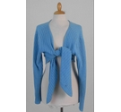 Marchbrae Cashmere Cardigan Sky Blue Size: XL