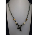 Black Metal Dolphin Necklace