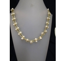 M&S Gold and Plastic Pearl Necklace