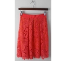 Whistles Knee-Length Skirt Coral Size: 6