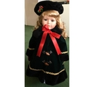 Holly - 1998 Christmas Porcelain Doll - A limited edition of 2000