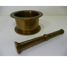 Small brass pestle and mortar
