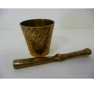 Small brass indian pestle and mortar