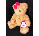 "Boyds Bears Miss Hugaby Hugs to You Red Valentine Teddy Bear 8"" Love Heart"