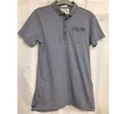 Jasper Conran striped polo shirt blue and grey Size: 13 - 14 Years