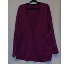 M&S Marks & Spencer Thin-knit Cardigan Magenta Size: 18