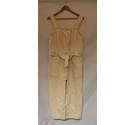 M & S Collection Dungarees Ecru Size: 34""