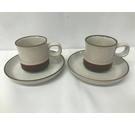 Denby Potters Wheel, Pair of Cups and Saucers