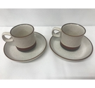 Denby Potters Wheel, Pair of Cups & Saucers