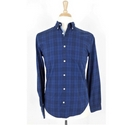 Next Men's Shirt Navy/Blue Check Size: S