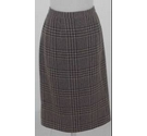 Jaeger Stitch Check Skirt Green & Black Size: 14