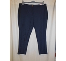 M&S Per Una Spotted Straight Leg Trousers, Navy Mix Size: XXL