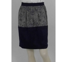 Thomas Pink Silk Patterned Skirt Navy & Grey Size: 10