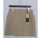Blend She Faux Suede Mini Skirt Beige Size: S