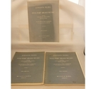 Pezel: 5 part brass music 3 volumes
