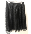 ASOS Curve Pleated Lace Skirt Black Size: 18