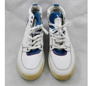 Alexander McQueen high top leather trainers white Size: 8