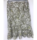 Eastex Floral Skirt Cream & green Size: 16