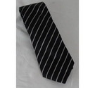Armani Collezioni Striped Tie Black Size: One size