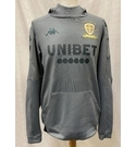 Official Leeds Utd Centenary Prematch Training Hoodie Grey Size: S