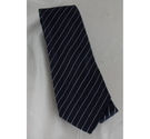 Armani Collezioni Striped Tie Navy Size: One size