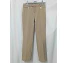 M&S Straight trousers, zip pockets Camel Size: S