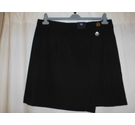 M&S Collection Crossover Effect Skirt, Black Size: 18