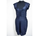 French Connection Bandage Bodycon Dress Navy Blue Size: 10