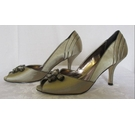 Phase Eight Peep Toe Shoes and Bag Dark Champagne Size: L