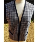 Gordon Wyatt Check Waistcoat Black & White Size: 16