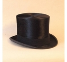 C.A.Dunn & Co. 100% Brushed Silk Top Hat Black Size: One size: regular