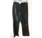 The Keenan Leather Company Jeans-cut Trousers in Black Leather Size: S