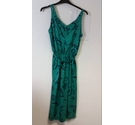True Vintage Unbranded 80's-style strappy dress in Turquoise Size: 8