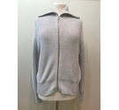 M&S Collection Zip-up Jumper Grey- Size: 16
