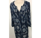 The Collection Debenhams Belted Long Sleeve Shirt Dress Blue & cream Size: 10