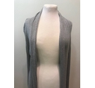 Soaked in Luxury - Ribbed Cardigan- Grey- Size: S