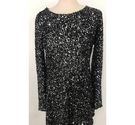 Gap Size S Long Sequin Dress Black Size: S
