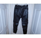 GB Marketing Leather Motorcycle trousers Black Size: 30""