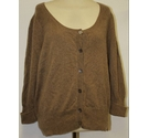 M&S Marks & Spencer Cashmere Soft Cardigan Brown Size: 20