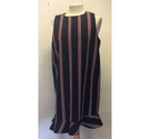 Zara Striped Dress Blue and Red Size: L