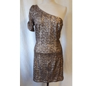 New Look Sequin party dress Beige Silver Size: 12